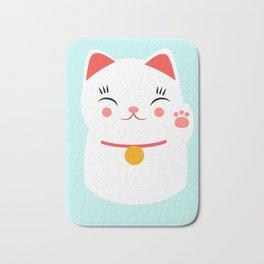 Lucky happy Japanese cat Bath Mat