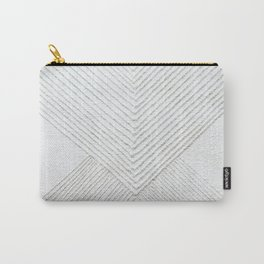 White Geometric Abstaction Carry-All Pouch
