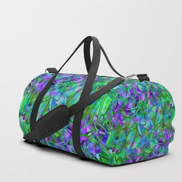 Floral Abstract Stained Glass G295 Duffle Bag
