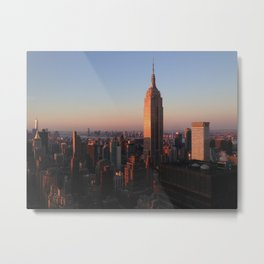 Sunset on NYC From 46th Floor Metal Print