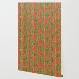 Cute Cactus & Cacti Pattern Wallpaper