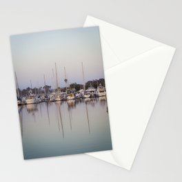 Sail Boats and Reflections in the Harbor Stationery Cards