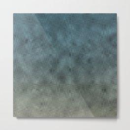 navy glass textute Metal Print
