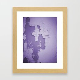 Damaged wall pic in background with purple color, ready for clothes,furnitures, iphone cases Framed Art Print