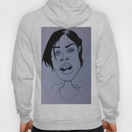 Drawing a beautiful girl Hoody