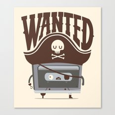Pirate music Canvas Print