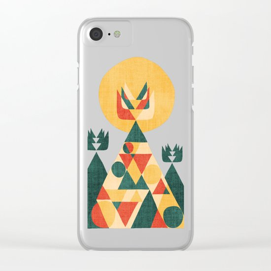 Sunset Tipi Clear iPhone Case