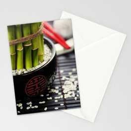 Chopsticks and a lucky bamboo plant Stationery Cards