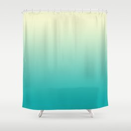 Ombre Cyan Sea Shower Curtain