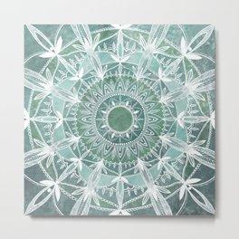 Turquoise Space Metal Print