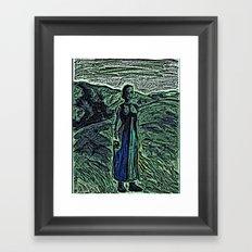 The Lady. Framed Art Print