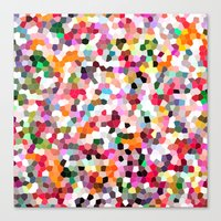 mosaic Canvas Prints featuring Mosaic by Laura Ruth