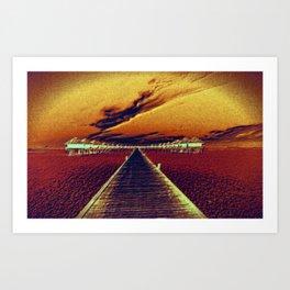 Fierce Sunset Art Print