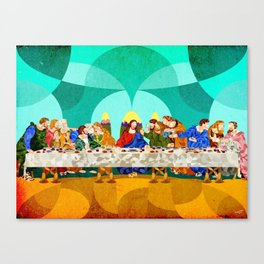 Curves - Last Supper Canvas Print