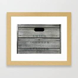 Old wooden box from overseas Framed Art Print