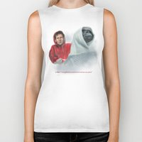 mulder Biker Tanks featuring Mulder and the ET files by Magdalena Almero