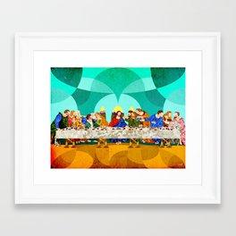 Curves - Last Supper Framed Art Print