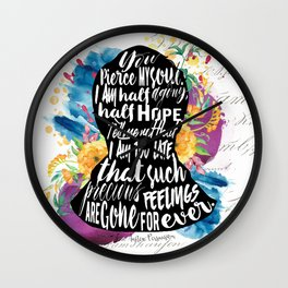 Persuasion - You Pierce My Soul Wall Clock