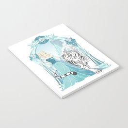 Frozen White Tiger Notebook