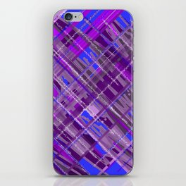 purple patchwork iPhone Skin