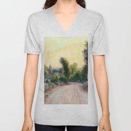 """Claude Monet """"Chemin"""" Unisex V-Neck"""
