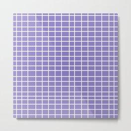 Squares of Lavender Metal Print