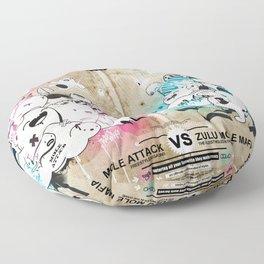 Battle of the moles Floor Pillow