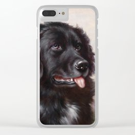 The Newfoundland Dog - Carl Reichert Clear iPhone Case