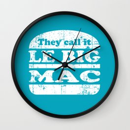 Pulp Fiction - Le big mac Wall Clock