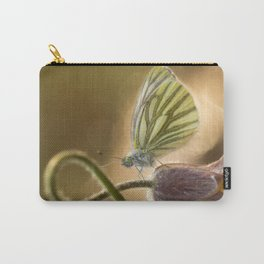 Morning impression with pasque flower and small butterfly Carry-All Pouch