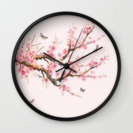 Pink Cherry Blossom Dream Wall Clock