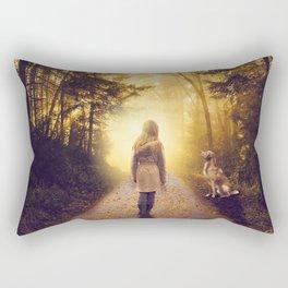 Girl in the woods Rectangular Pillow