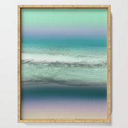 Twilight Sea in Shades of Green and Lavender Serving Tray