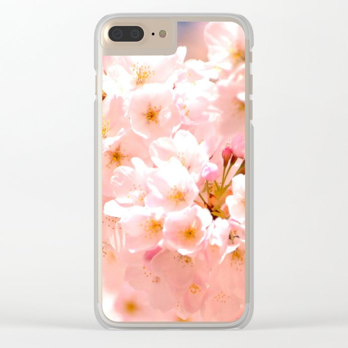 Pretty Pink Spring Blossoms :) Clear iPhone Case