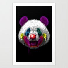 PANDA CLOWN Art Print
