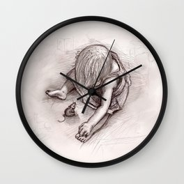 Ruby and the Rat Wall Clock