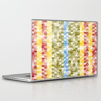 hexagon Laptop & iPad Skins featuring Hexagon pattern by rollerpimp