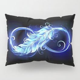 Fiery Symbol of Infinity with Feather Pillow Sham
