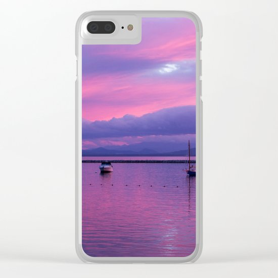 evening pastels Clear iPhone Case