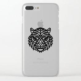 Tiger Head (Geometric) Clear iPhone Case