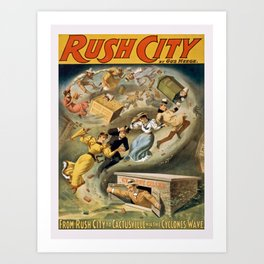 Vintage poster - Rush City Art Print