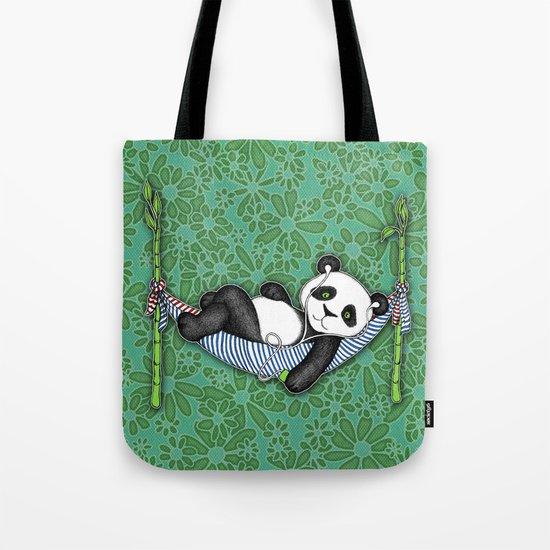 iPod Panda - The Lazy Days Tote Bag