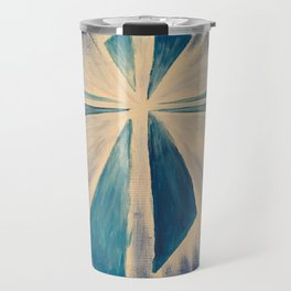 Radiant Blue Cross Travel Mug