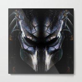 Predator Helmet Metal Print