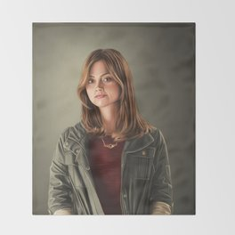 The Impossible Girl Throw Blanket