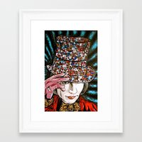 willy wonka Framed Art Prints featuring Johnny Depp as Willy Wonka by Portraits on the Periphery