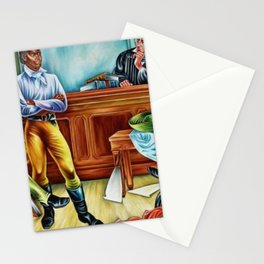 """African American Classical Masterpiece """"The Trail of the Amistad Captives"""" by Hale Woodruff Stationery Cards"""