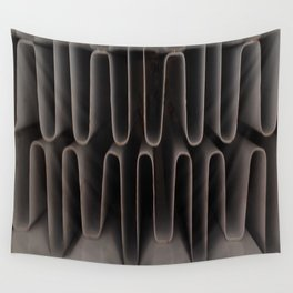 Industrial Waves   Metal Abstract  Wall Tapestry