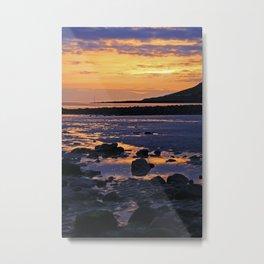 Coastal Sunset, Wales Metal Print