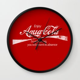Enjoy Aqua-Cola! Wall Clock